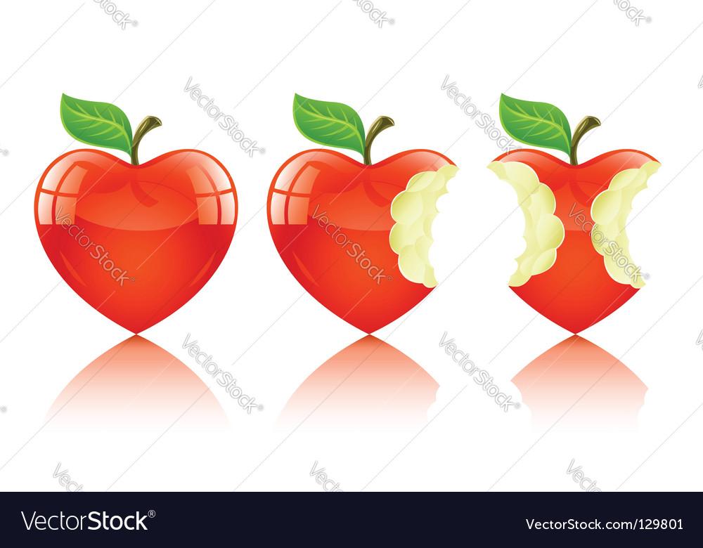 Love heart apple