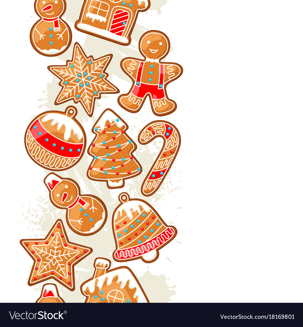 Merry christmas seamless pattern with various