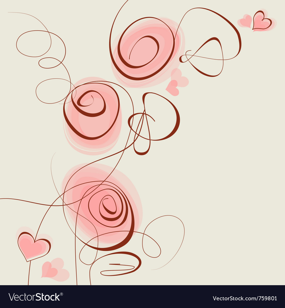 Pink flowers and hearts background royalty free vector image pink flowers and hearts background vector image mightylinksfo