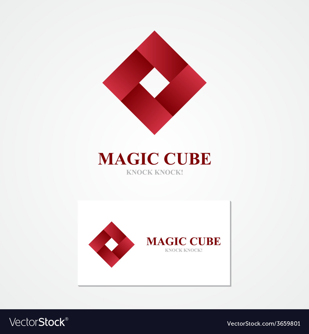 Square logo with business card template