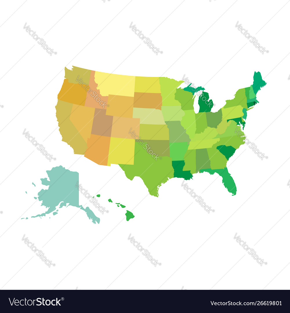 United states america usa map