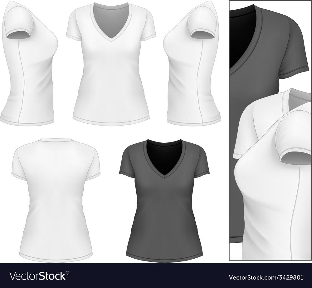 Womens v-neck t-shirt
