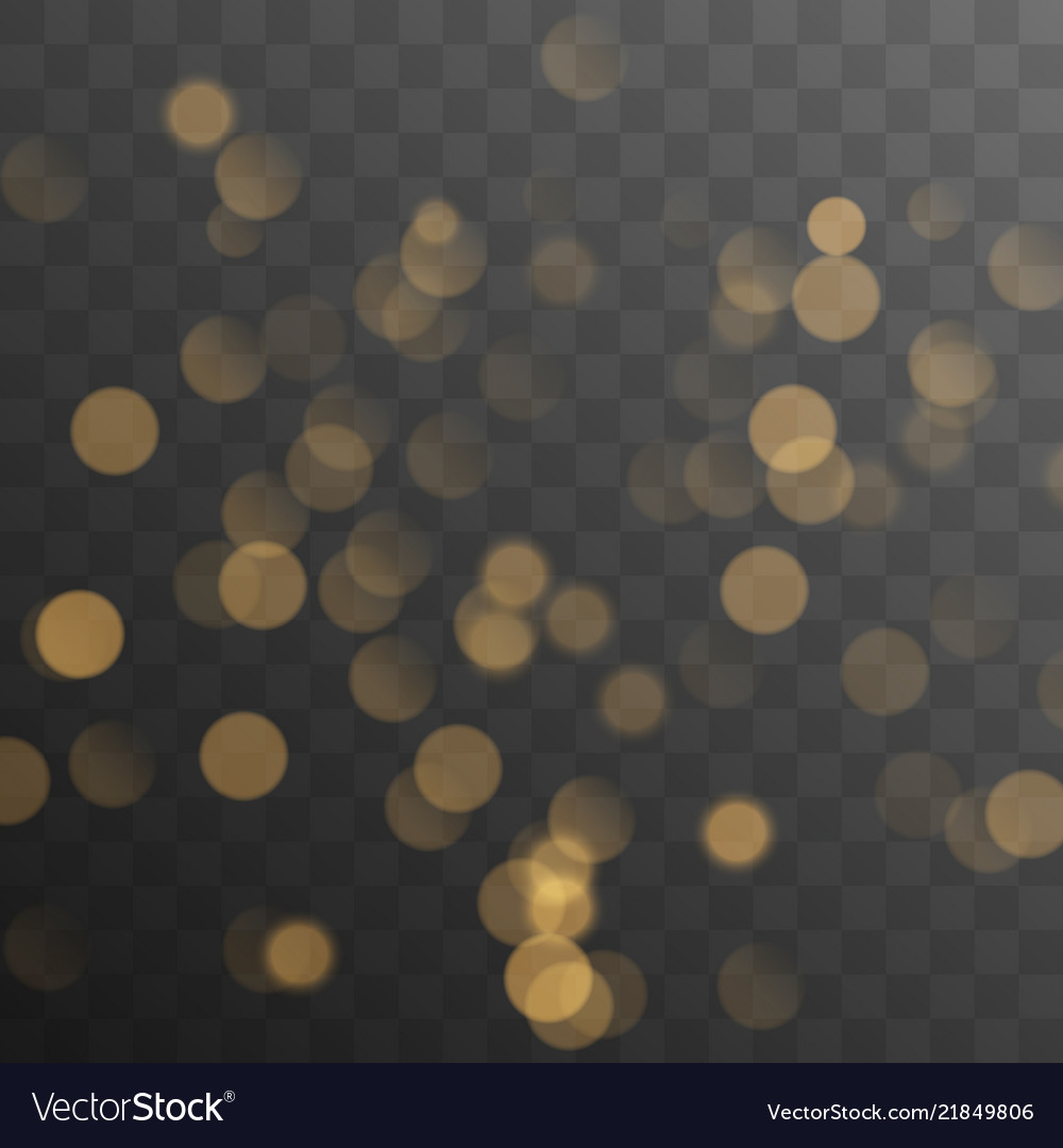 Abstract golden shining bokeh