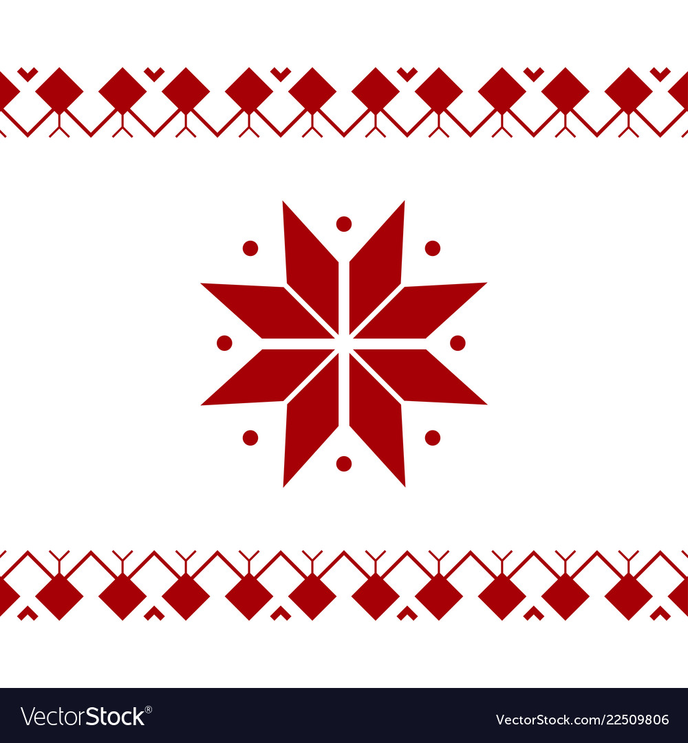 Christmas red ornament banner on white background