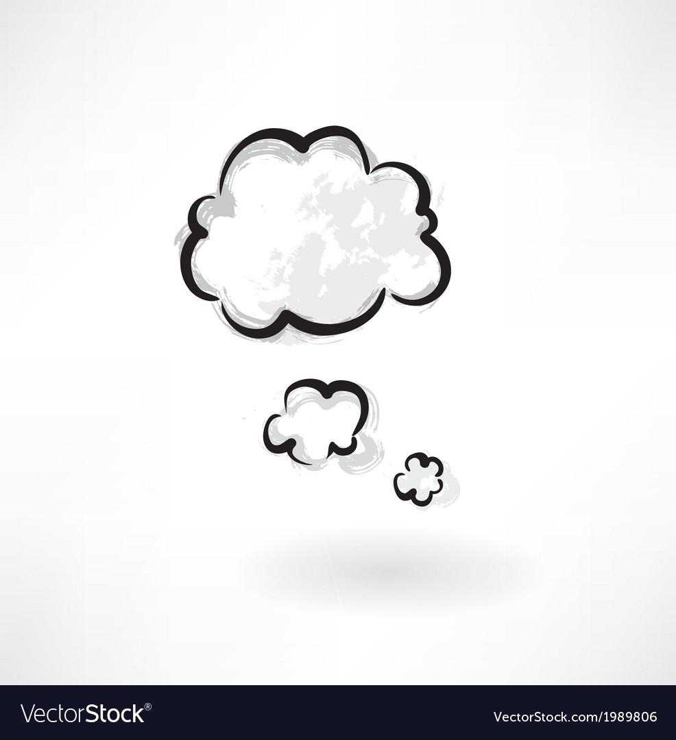 Clouds grunge icon