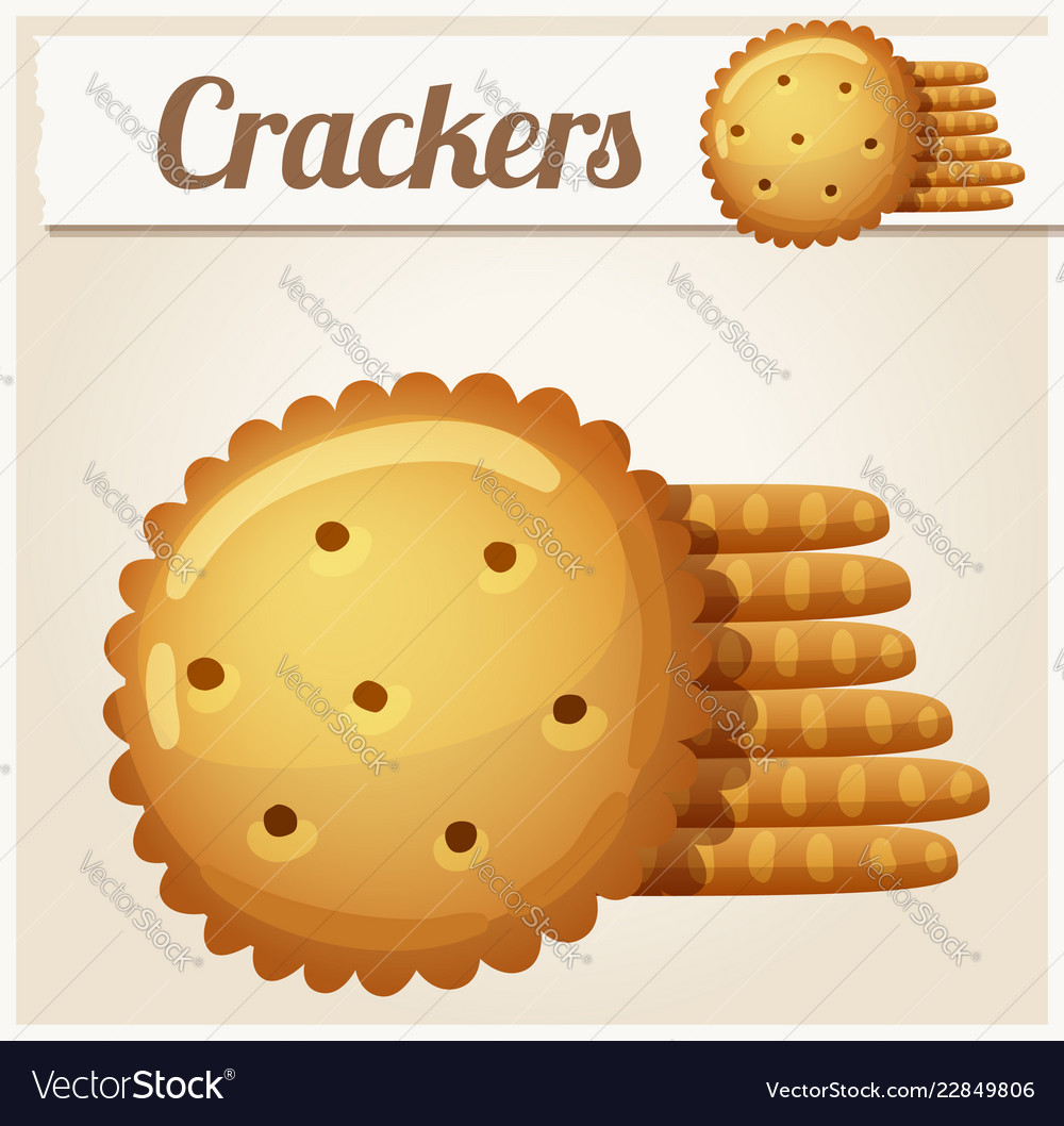 Cracker cookies detailed icon