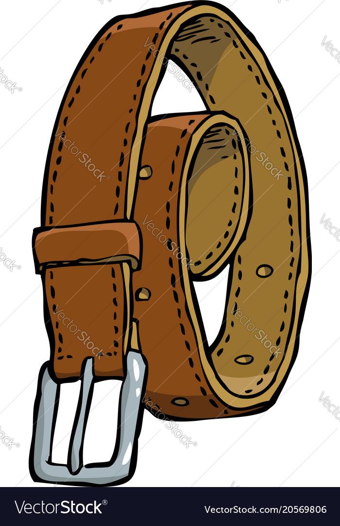 Doodle leather belt
