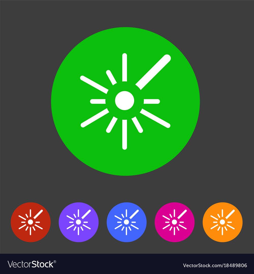 Laser black icon flat web sign symbol logo label vector image