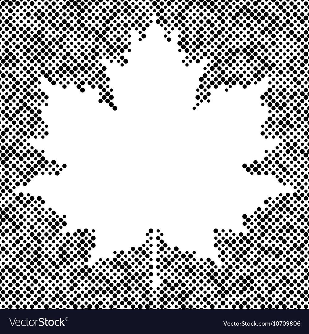 Maple leaf isolated halftone autumn background vector image