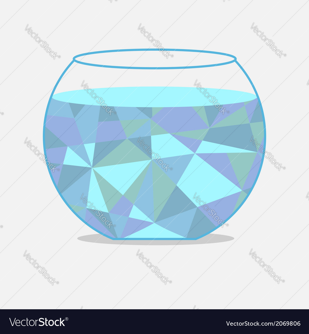 Polygonal aquarium Isolated Card