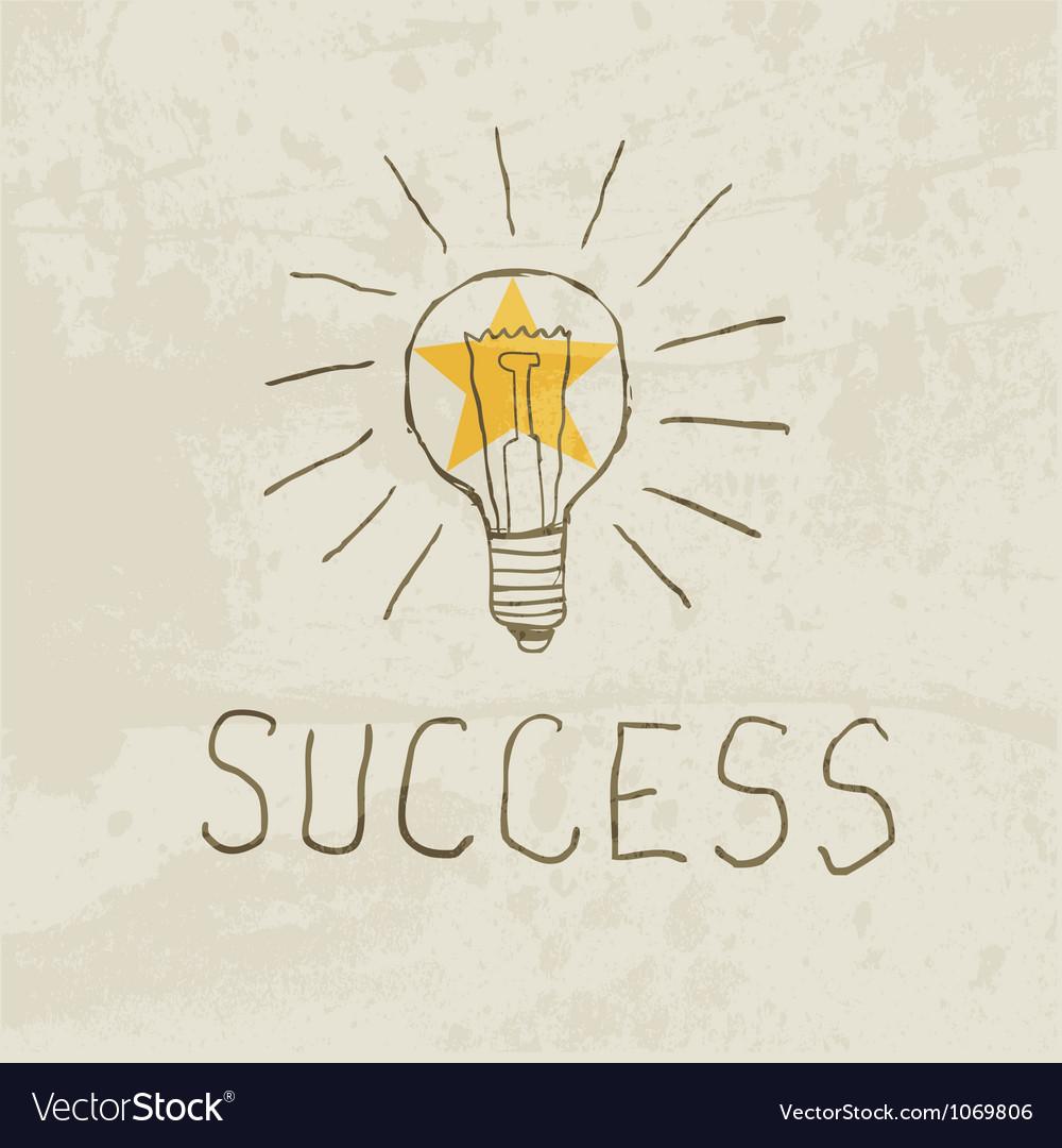 Success vector image