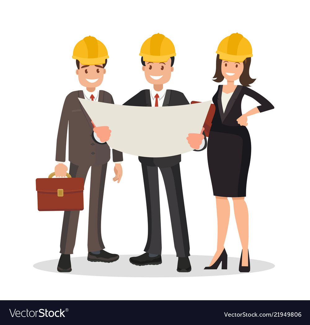 The engineer and the contractor are discussing the