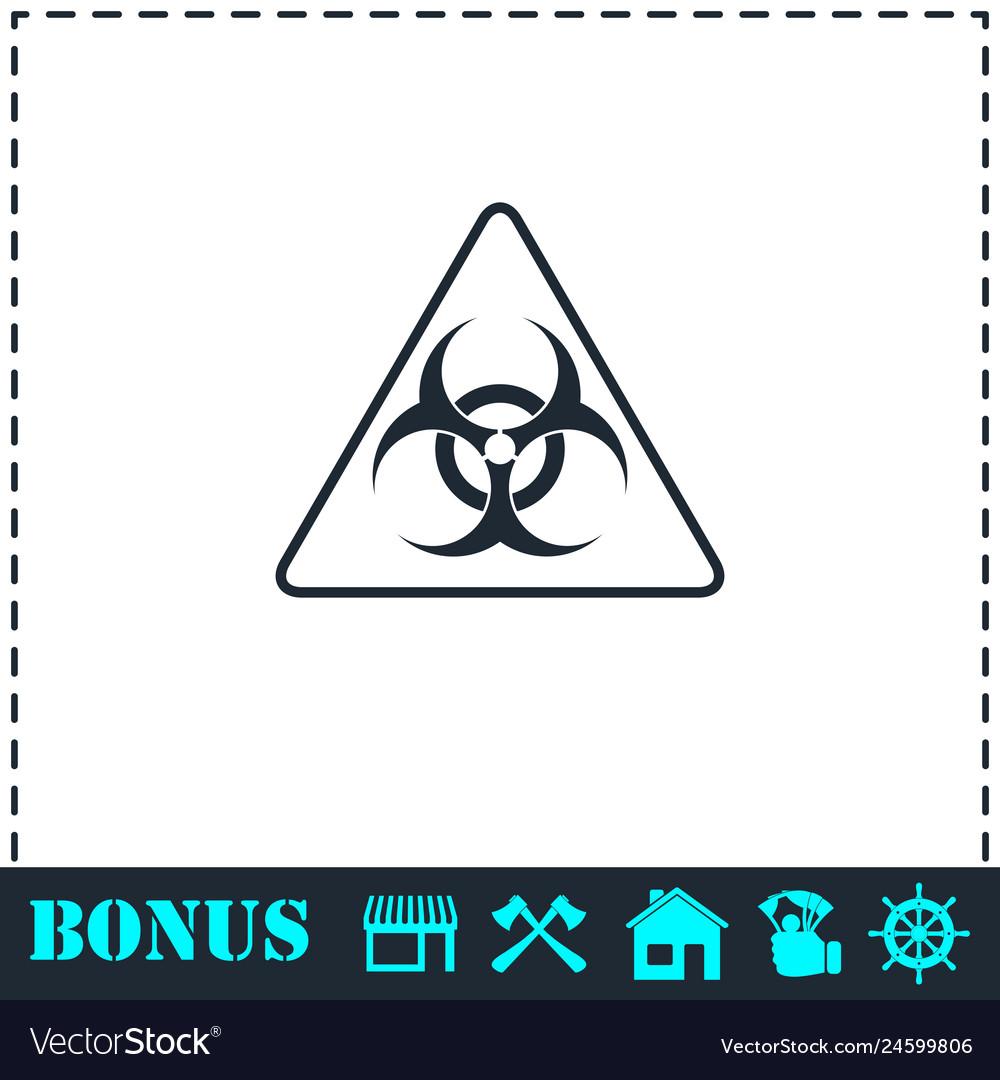 Virus icon flat