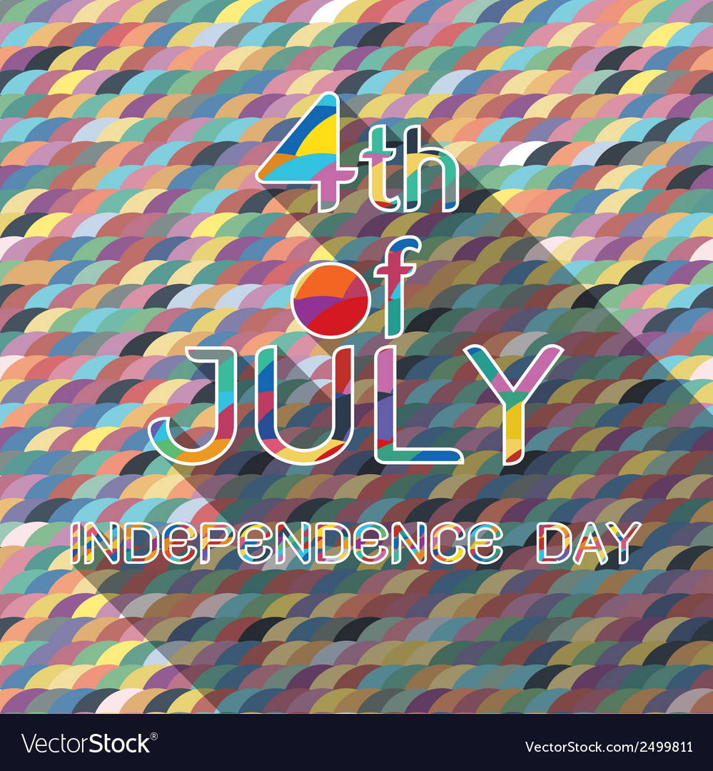 4th Julywith pattern background