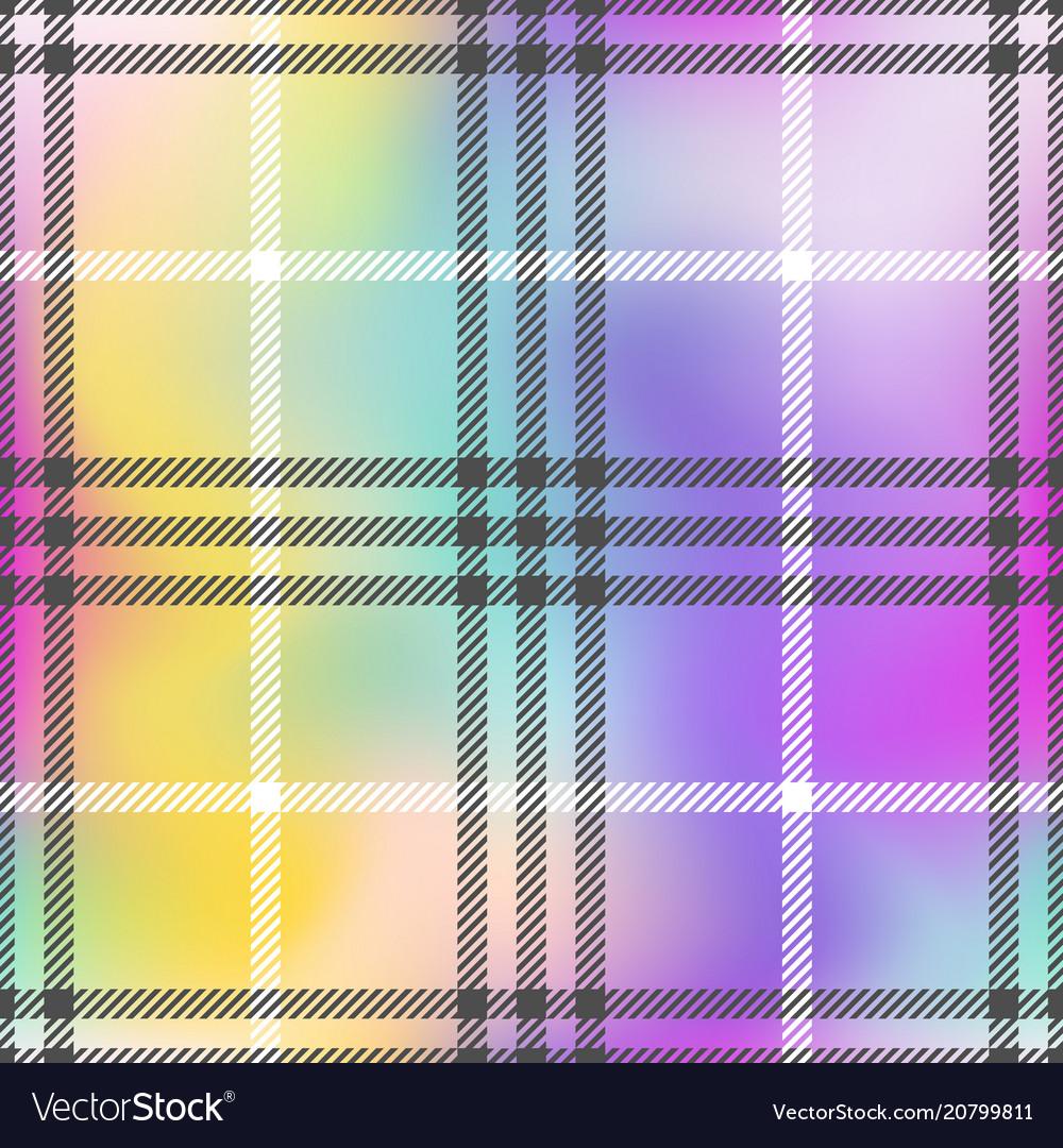 Check fashion pastel rainbow seamless pattern