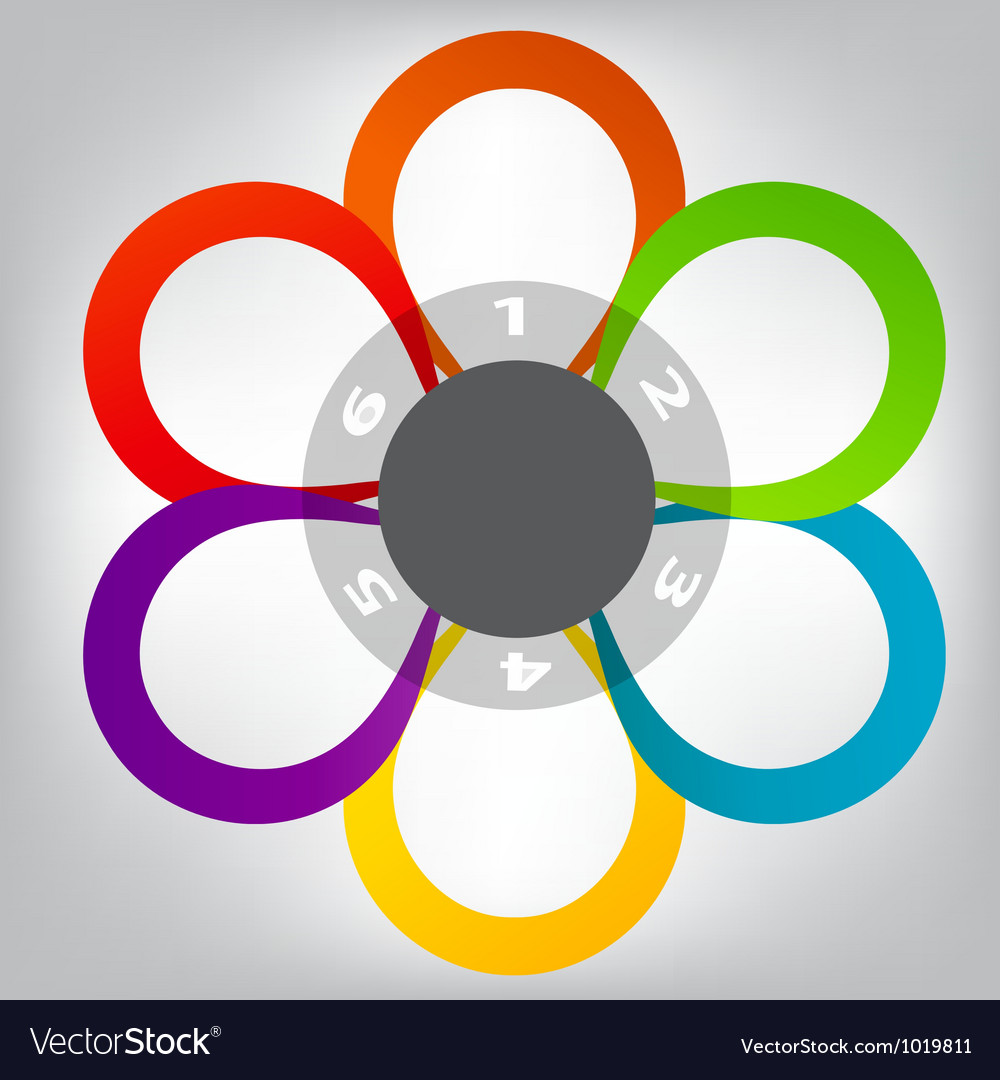 Concept of colorful circular banners in flower