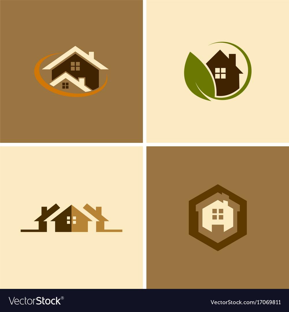 Eco house logos