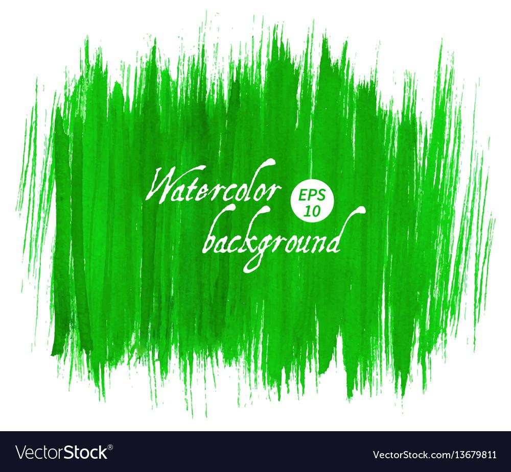 Green abstract hand drawn watercolor