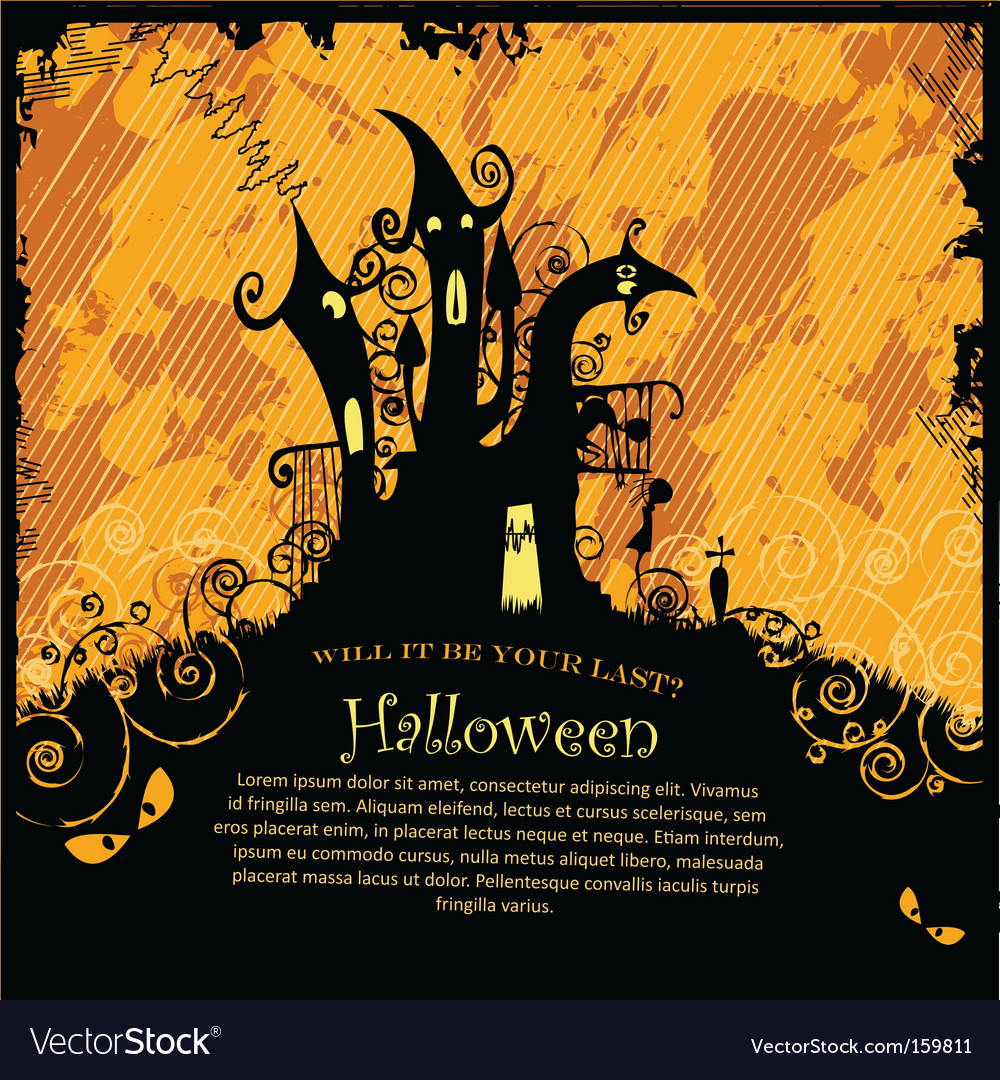 Halloween party invitation royalty free vector image halloween party invitation vector image stopboris Images