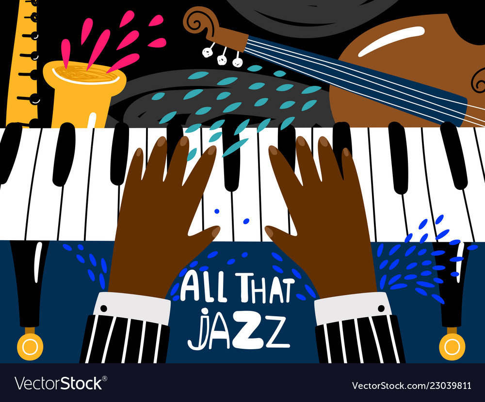 Jazz piano poster blues and jazz rhythm musical