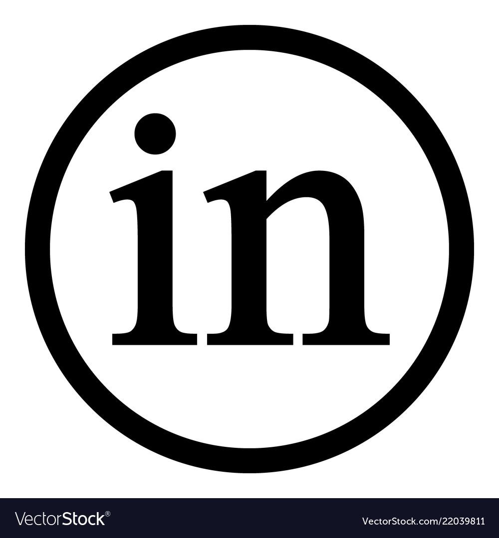 Linkedin Icon On White