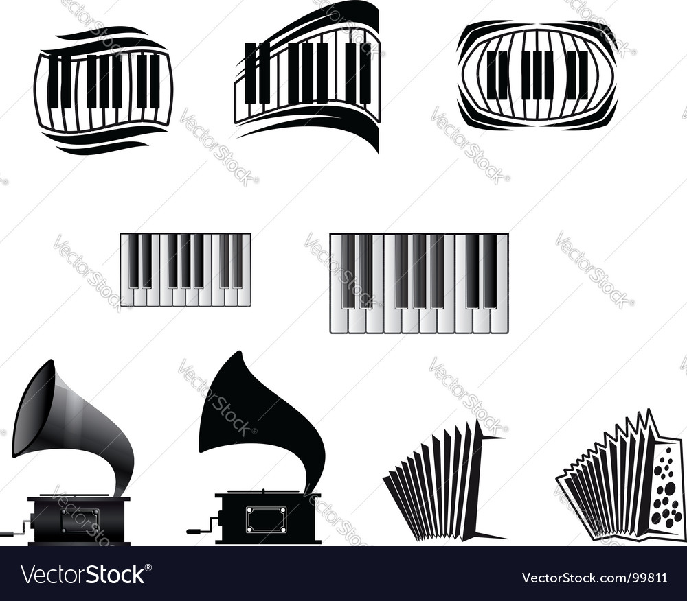 Music Icons And Symbols Royalty Free Vector Image