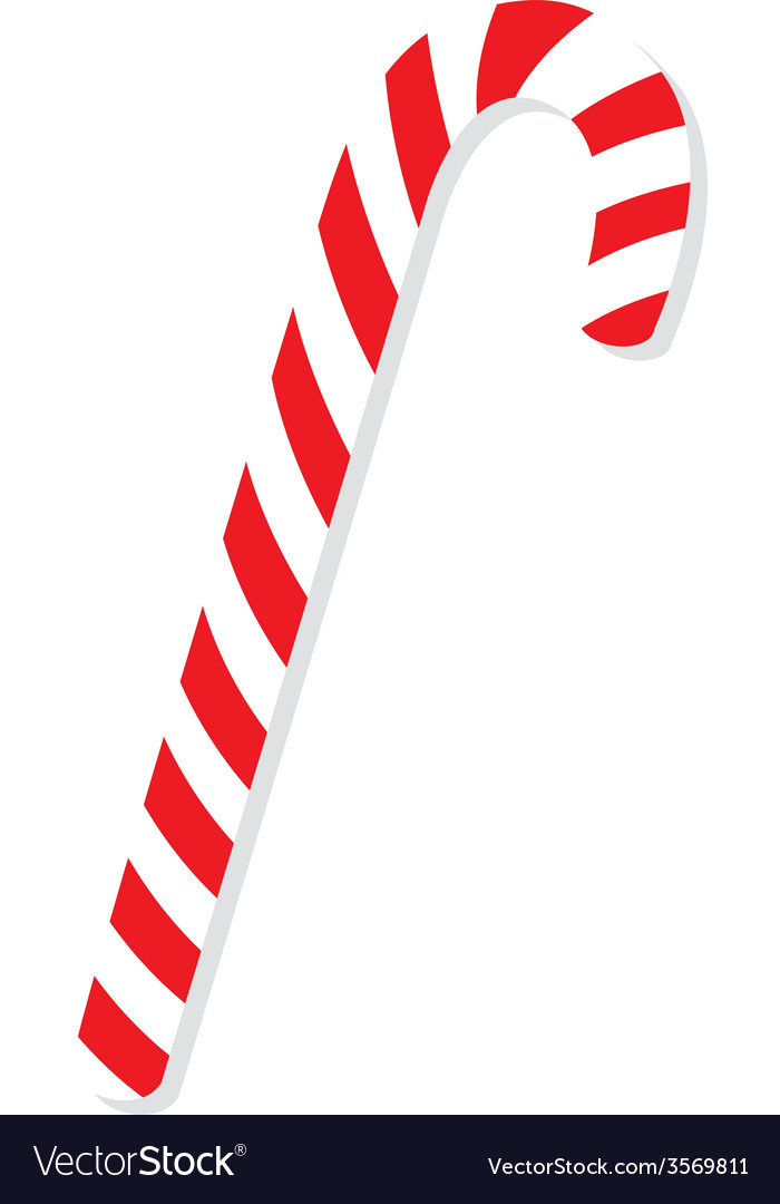 red christmas candy cane royalty free vector image rh vectorstock com candy cane vector image candy cane vector free