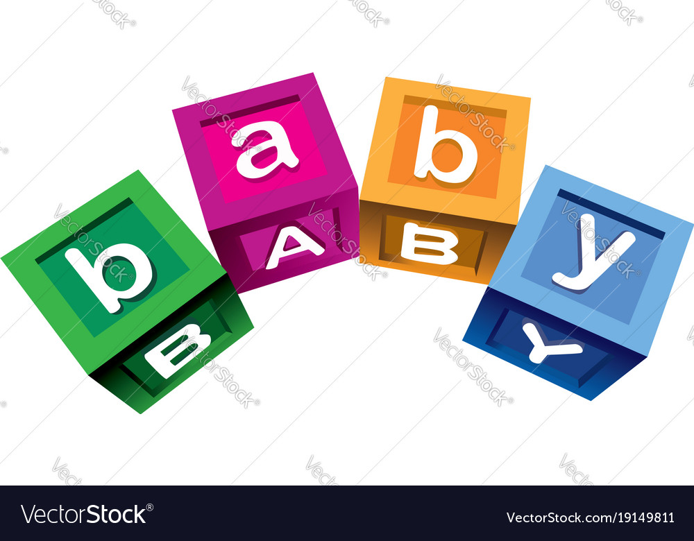 Wooden baby blocks