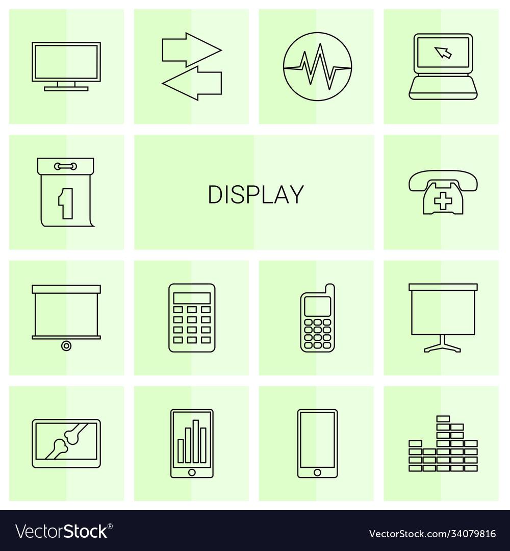 14 display icons
