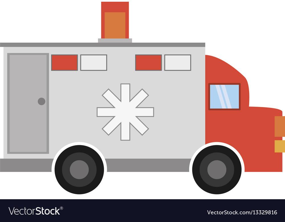 Ambulance transport emergency icon vector image