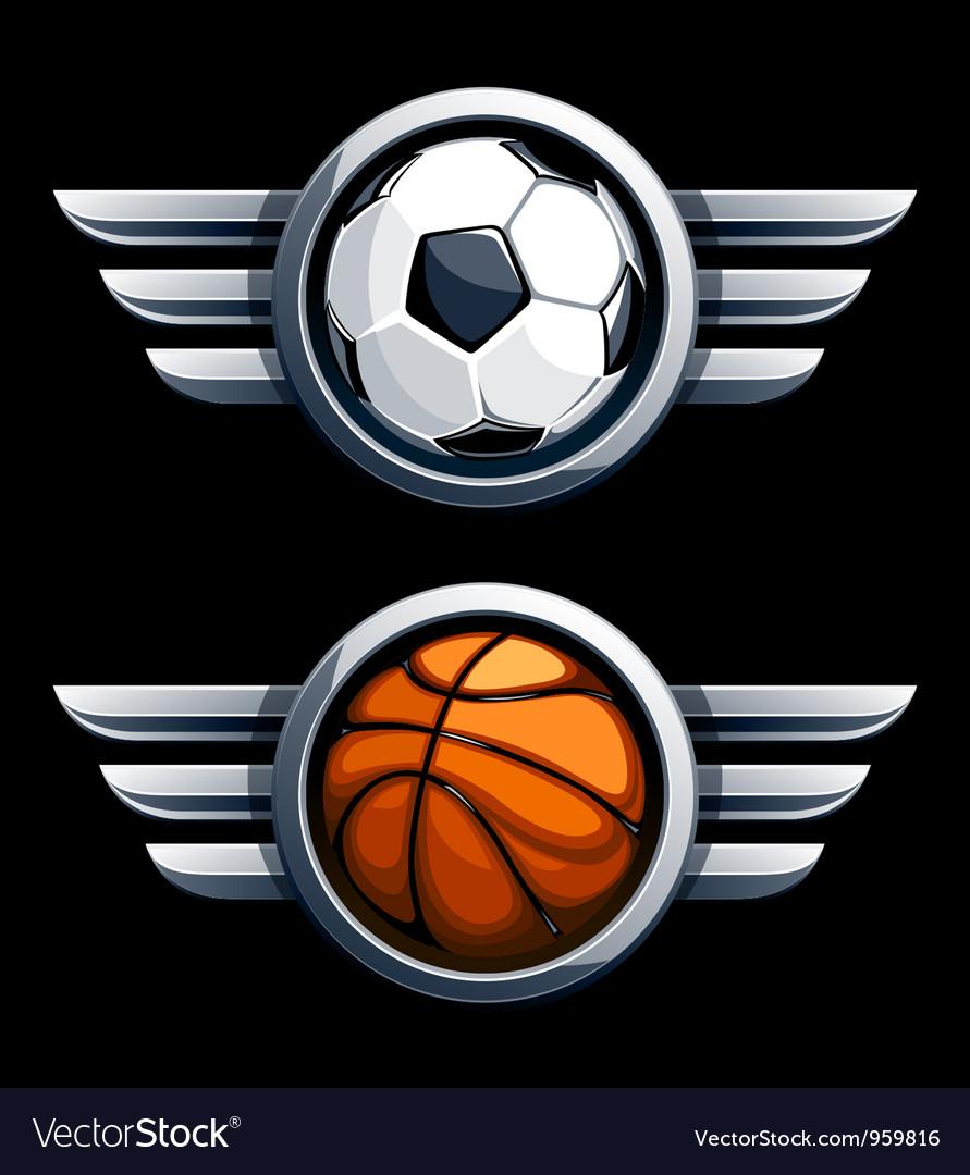 Basketball and soccer balls
