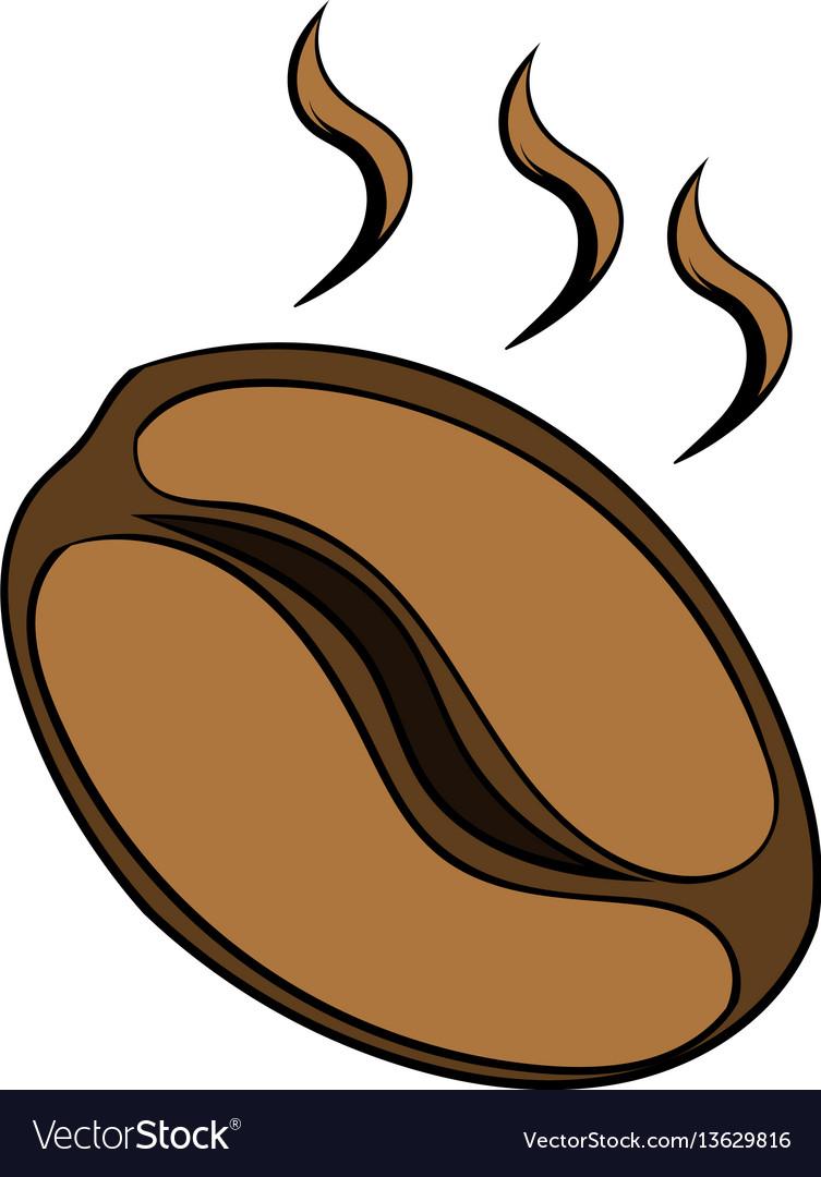 Coffee bean icon cartoon