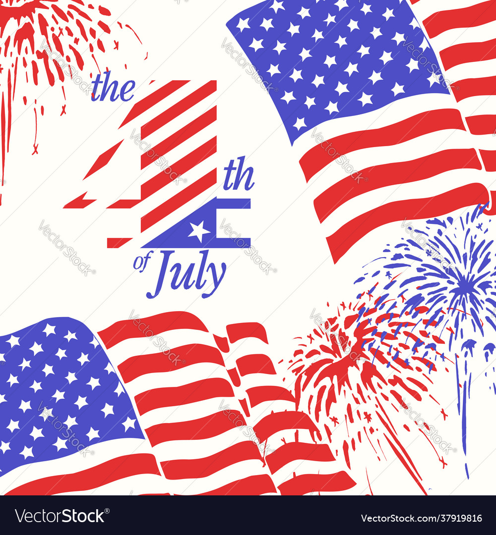 Fireworks background for 4th july independence