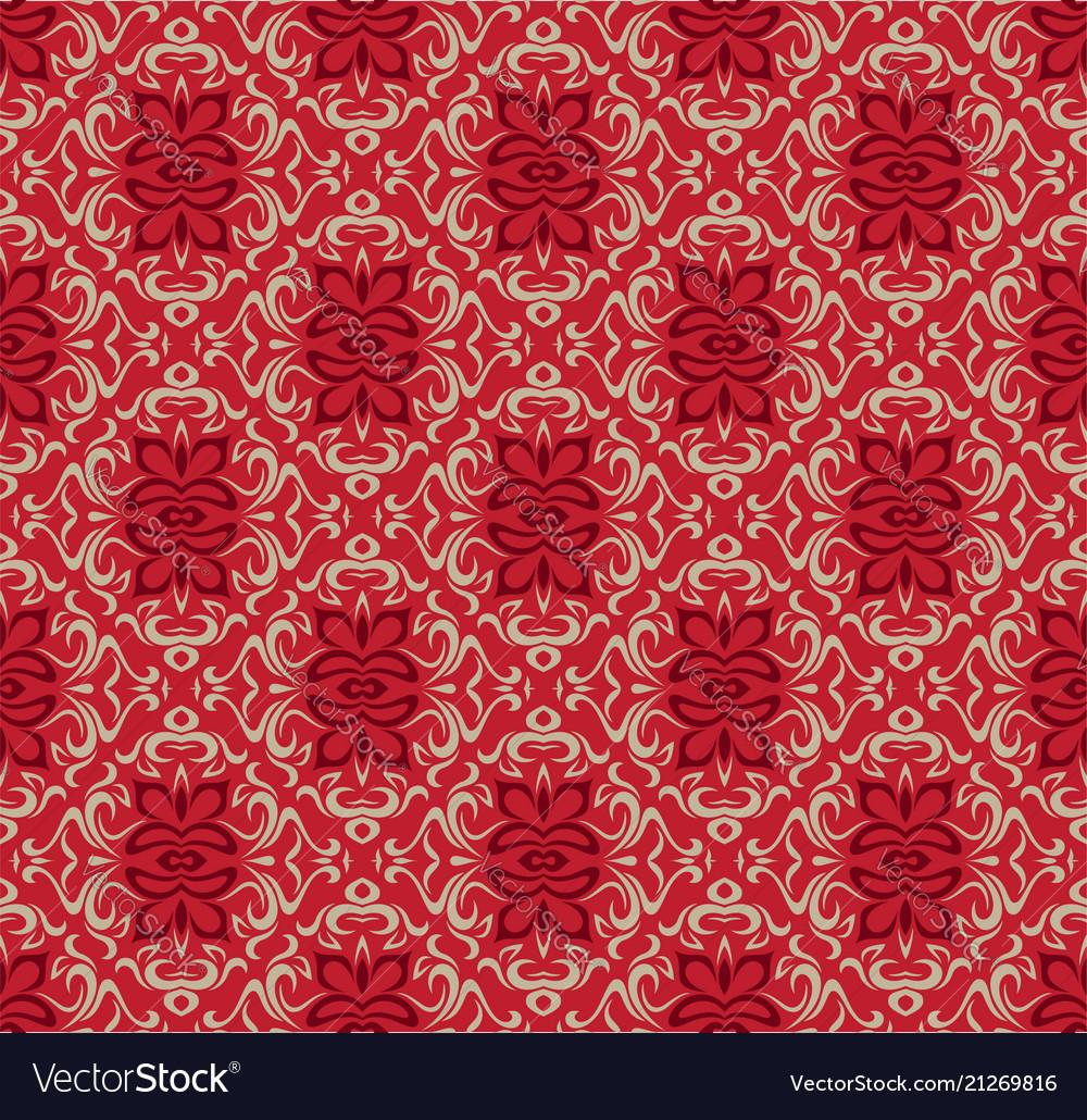 Luxury red seamless decorative pattern design