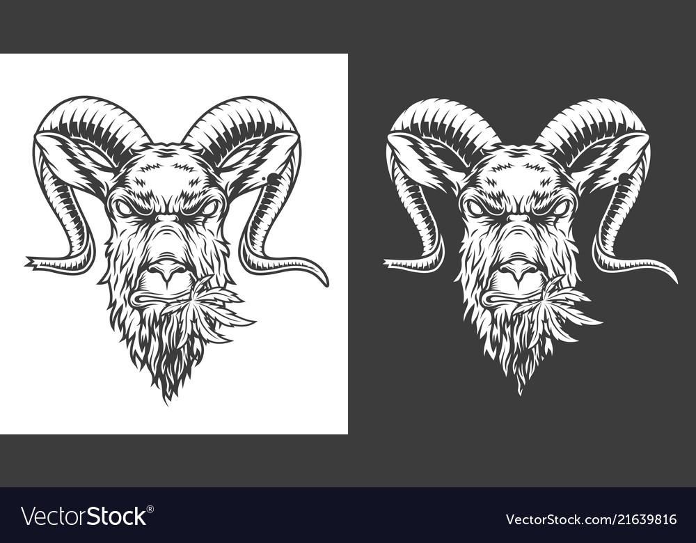 Monochrome goat icon