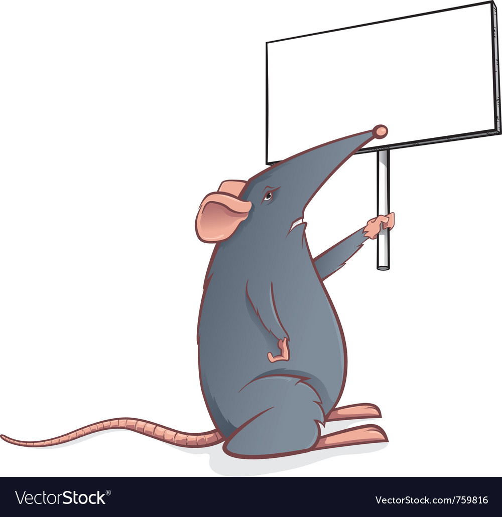 Mouse with sign