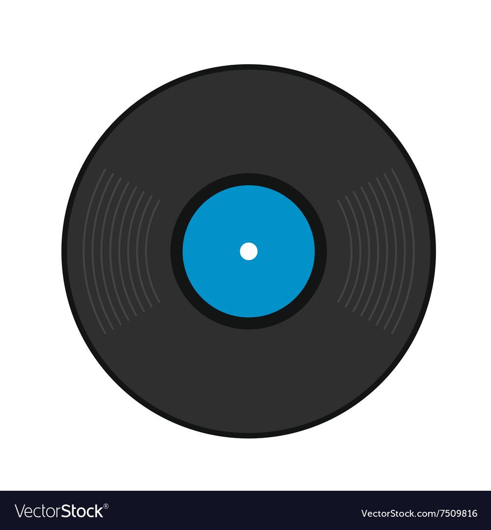 retro vinyl record flat icon royalty free vector image rh vectorstock com vinyl record vector image vinyl record player vector