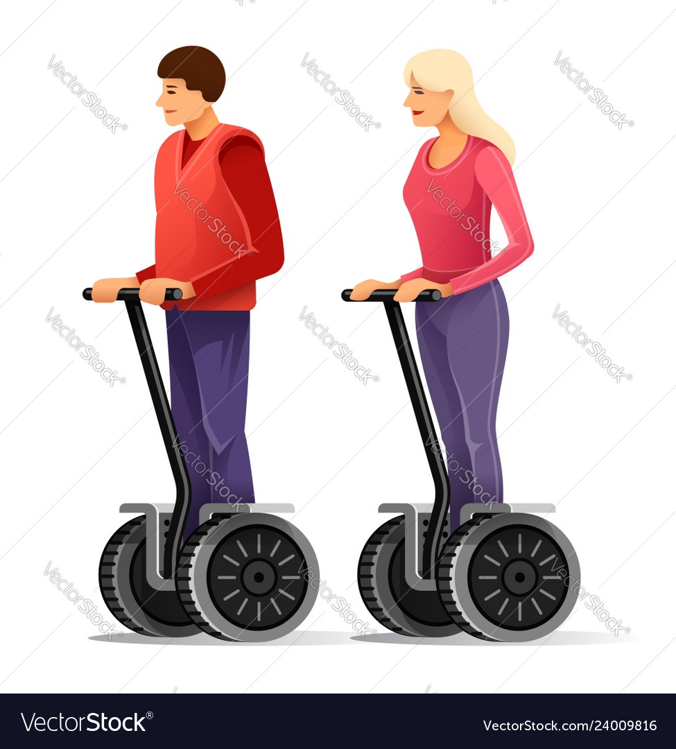 Tourists on segways young