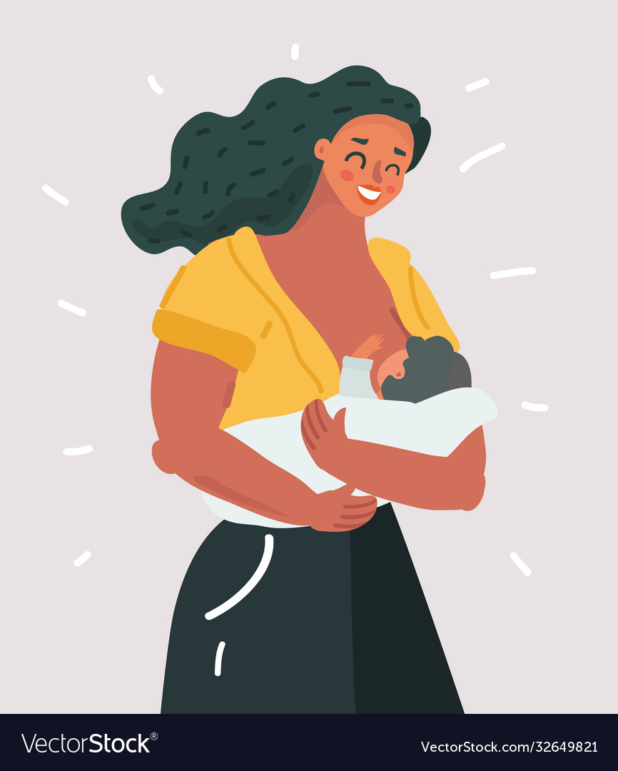 Beautiful mother breastfeeding her bachild