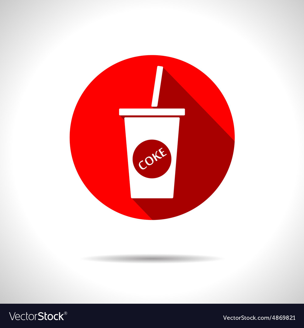 Cola icon Eps10 vector image