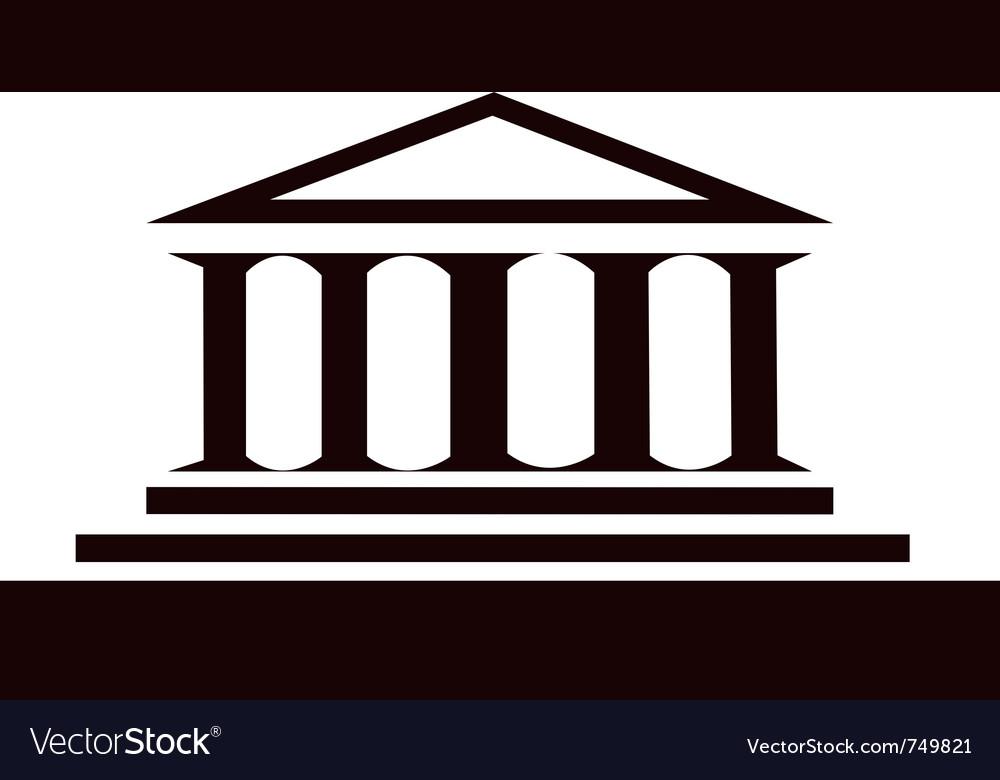 Columns ancient historic building vector image