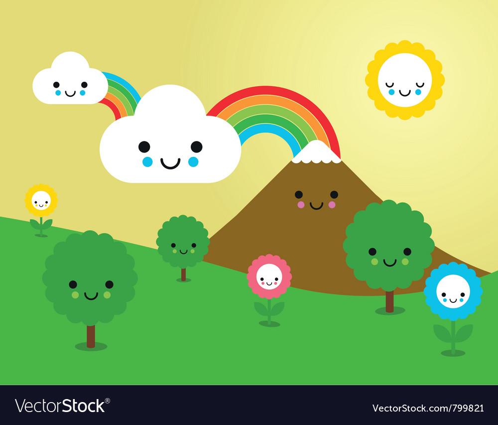cute nature royalty free vector image - vectorstock