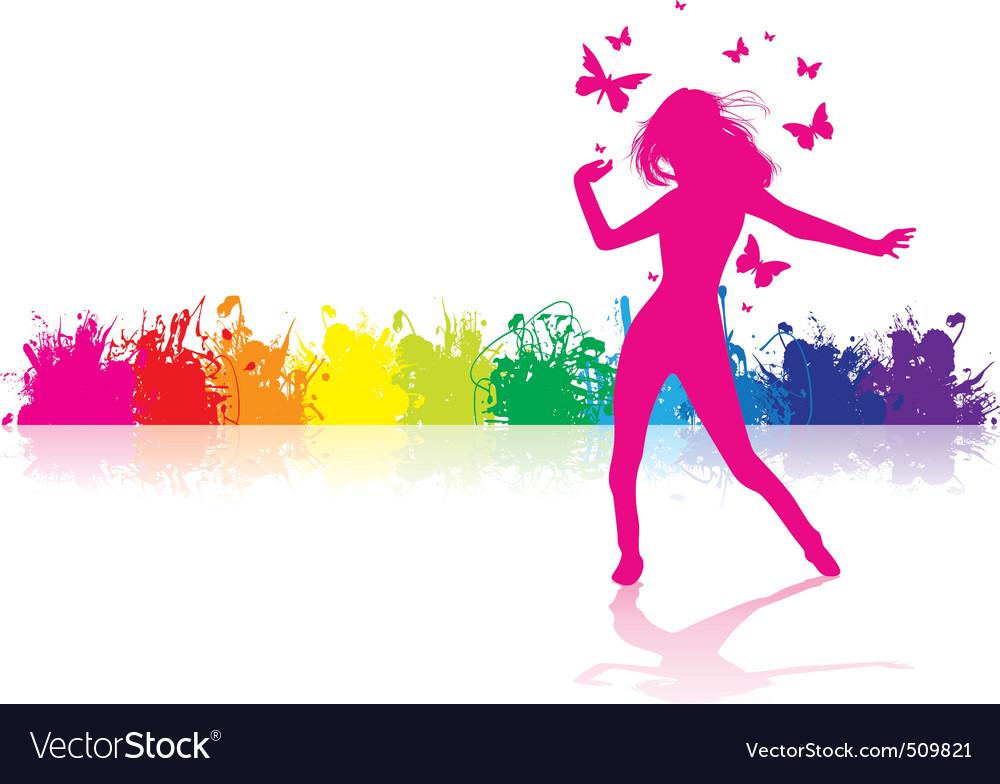 Dancing girl rainbow