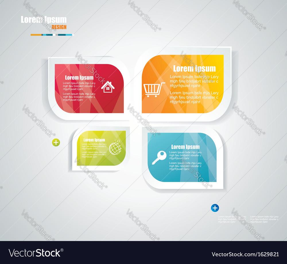Modern speech bubble template style vector image