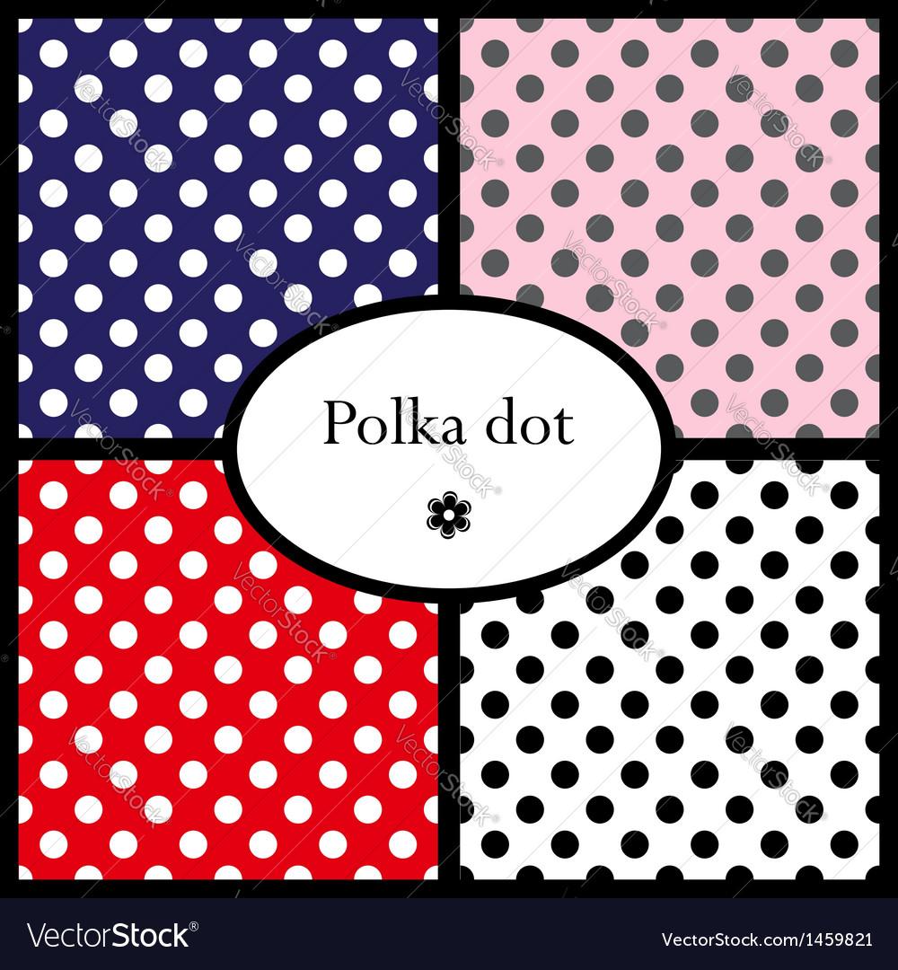 Set polka dot patterns
