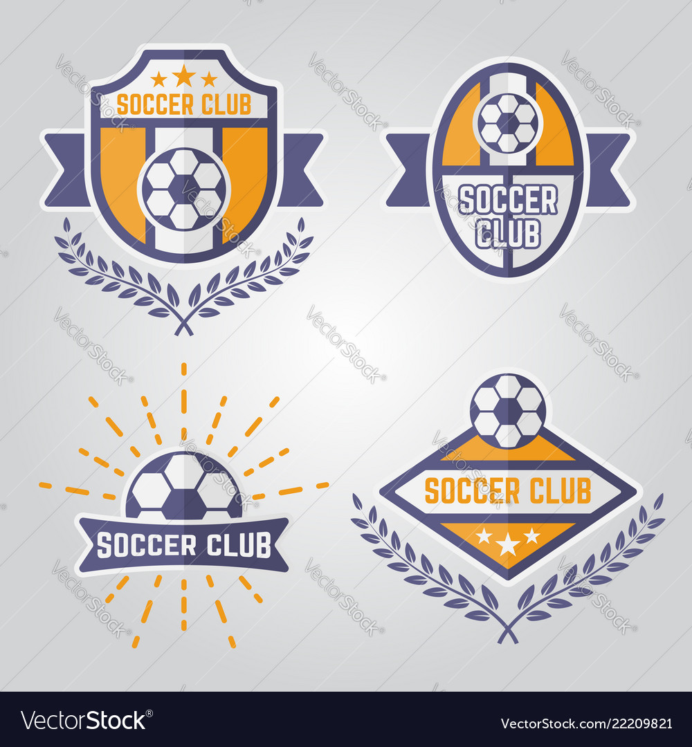 Soccer isolated emblems or logos part 2