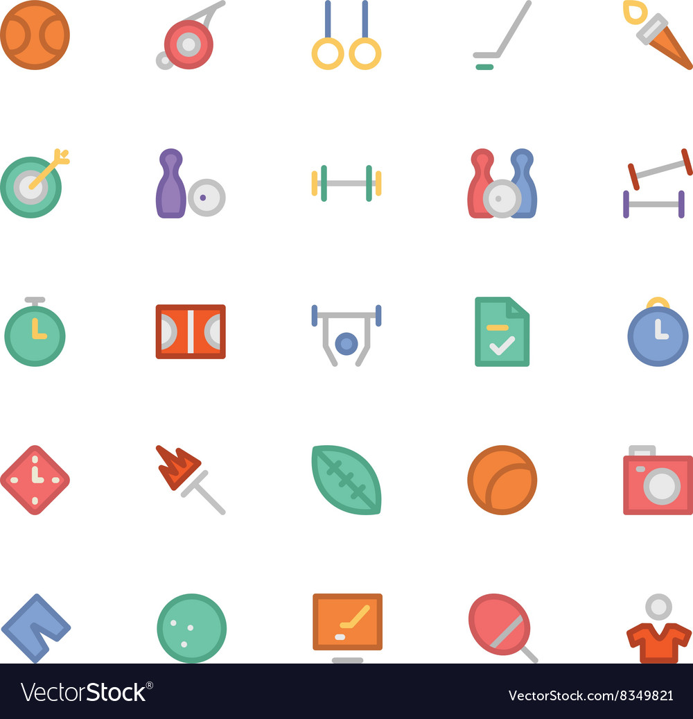 Sports Colored Icons 6