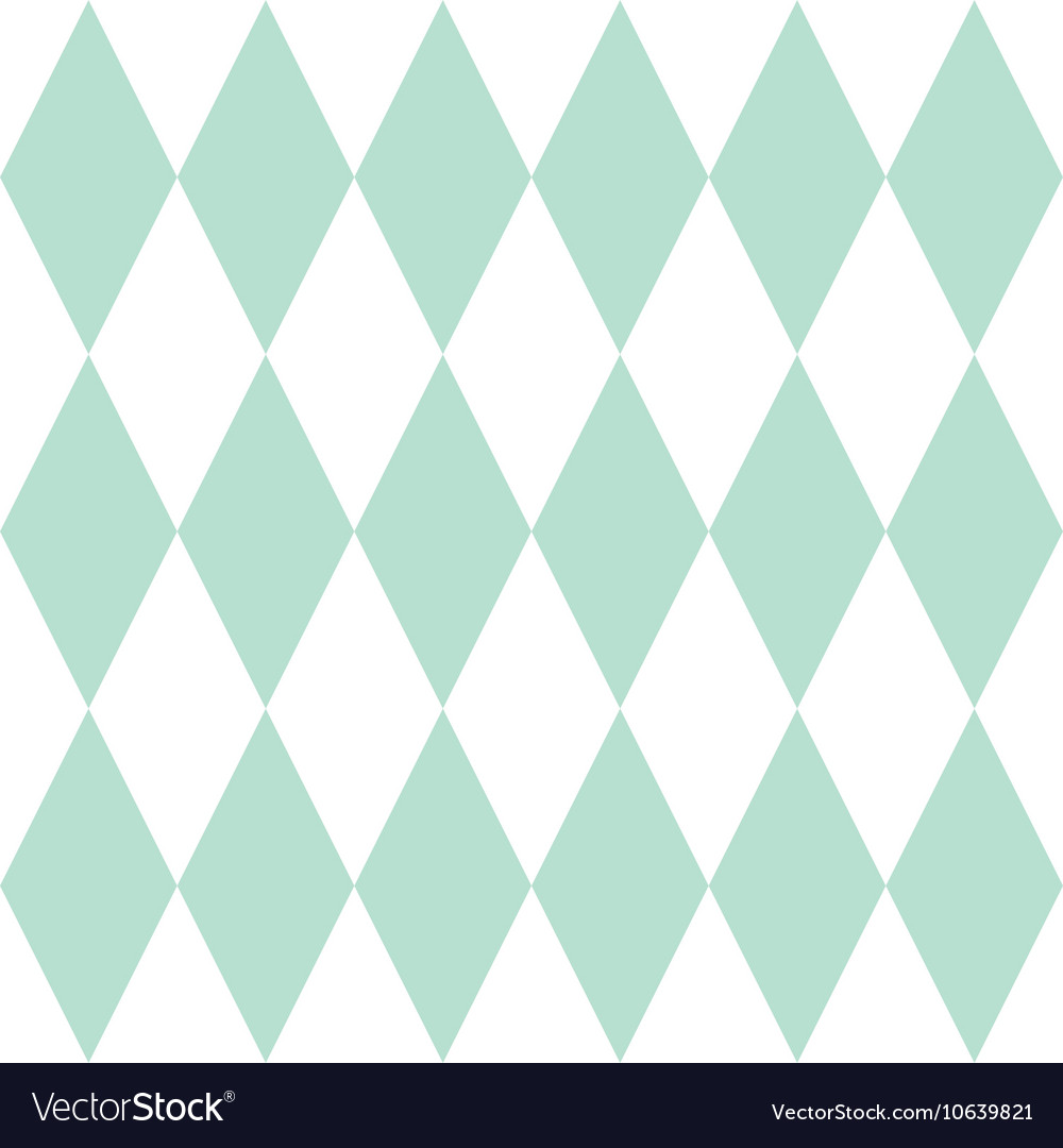Tile Pattern Or Mint Green And White Wallpaper Vector Image
