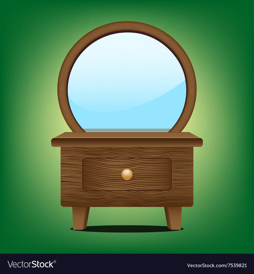 Wooden mirror cabinet