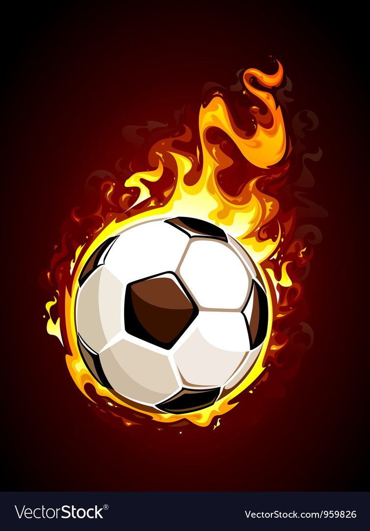 Burning soccer ball